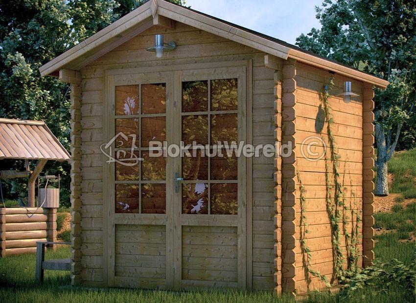 Tuinhuis Brabant 22x3m 28mm Blokhutwereldnl